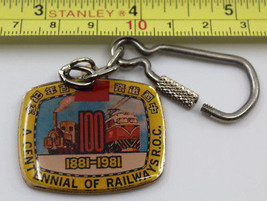 Centennial of Railways ROC 1881-1981 Taiwan Keychain - $15.79