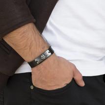 Men's Bracelet - Men's leather Bracelet - Men's Cuff Bracelet - Men's Je... - $29.75