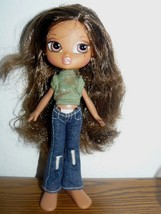 "TM & MGA BRATZ 7"" doll in green shirt, jeans and detachable feet - $7.43"