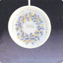 Hallmark 1985 Twenty-Five Years Together Miniature Porcelain Plate Ornament QX50 - $5.94