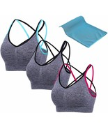 PRETTYWELL Strappy Sports Bras, Yoga Bras for Women, Comfortable Padded ... - $57.27