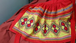 Vintage Handmade half apron. Ethnic theme. - $24.75
