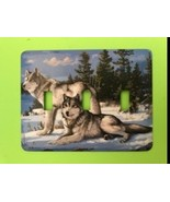 Wolfs Triple Metal Switch Plate Animals - $12.50