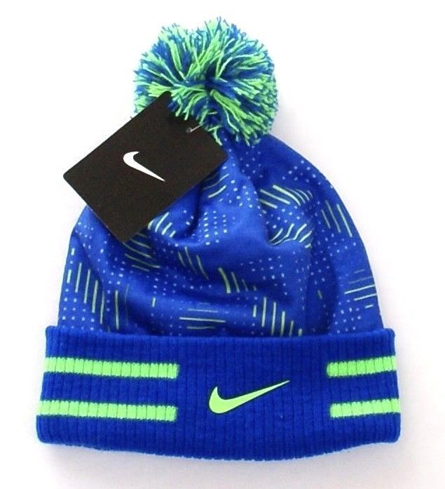 55400595876 Nike Blue   Green Cuff Beanie Skull Cap with and 50 similar items