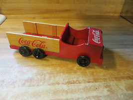Coca-Cola,1998 wooden advertising 6 wheeled delivery truck,soda pop co - $38.00