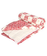 Home Furnishing Bedding Quilt Bedspread Pink Square Exotica Double Razai - $47.00