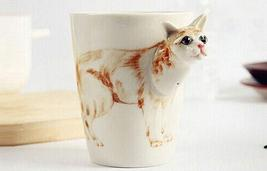 Burmese Cat Hand-Painted Ceramic Cup - $19.99