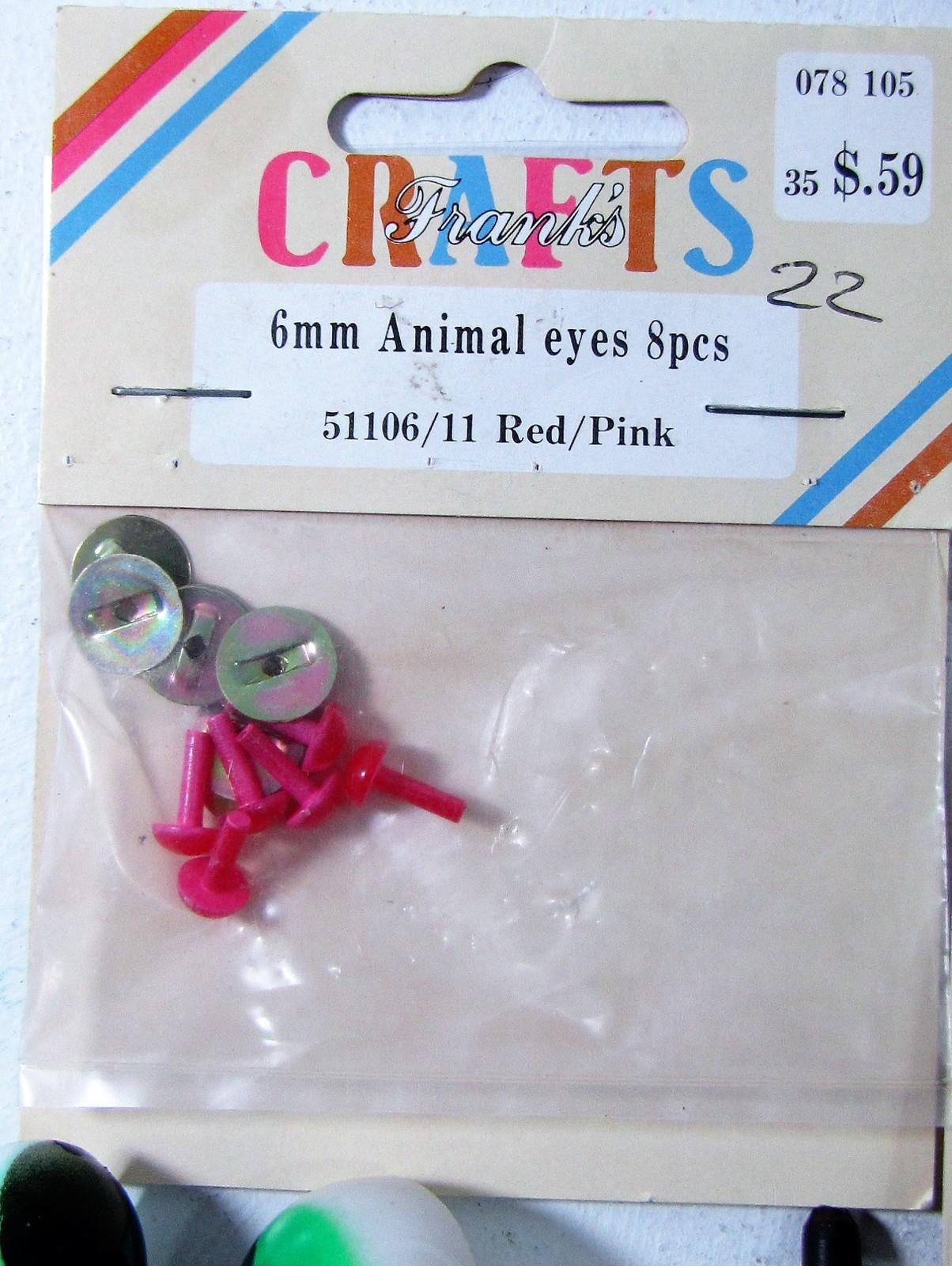 Taxidermy Animal Eyes, Lot              ships from Hudson, MI