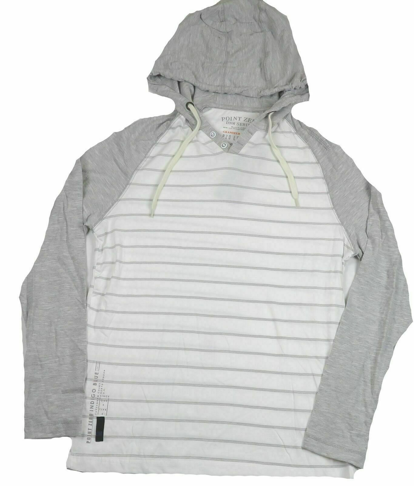 Small Men's Hooded Tee Shirt Long Sleeve Point Zero DNM Series WateRecycle