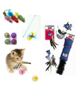 Cat Toys Many Styles and Types Catnip Rope Feathers Plush Balls Mice Unb... - $6.92+