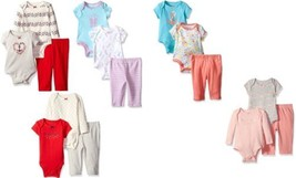 Nautica Newborn Infant Baby Girl's 3-piece Bodysuit and Pants Set, Cute Styles!