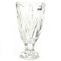 "MARQUIS BY WATERFORD ""CANTERBURY"" VASE CRYSTAL 10"" MADE IN POLAND CLEAR ... - $99.74"