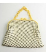 ESTATE VINTAGE WHITING & DAVIS ALUMESH CELLULOID CHAIN HANDLE PURSE POCK... - $55.00