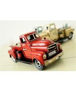 Nostalgia Iron Car Craft Childhood Toy Gift Antique Pickup Truck Model D... - $32.38