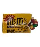 Vintage Pin M & M Candy Handpainted plastic mini foodie peanut chocolate... - $12.86