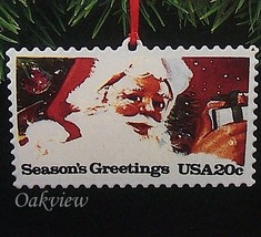 Hallmark 1993 US Christmas Stamps Series #1 NIB-SDB Santa Claus Ornament... - $2.95