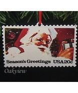 Hallmark 1993 US Christmas Stamps Series #1 NIB-SDB Santa Claus Ornament... - $2.95