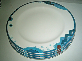 "4-pc set Mikasa Maxima MASQUERADE CAK50 Salad Plates 8 1/4"" never used - $20.99"