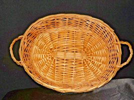Handmade Woven Wicker Basket with Double Handles AA-191712 Vintage Collectible image 6