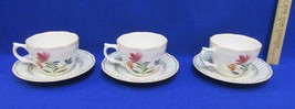 Provincial Designs Nikko Cup & Saucer Set 3 Hampton Flower Floral Hand Painted - $14.84