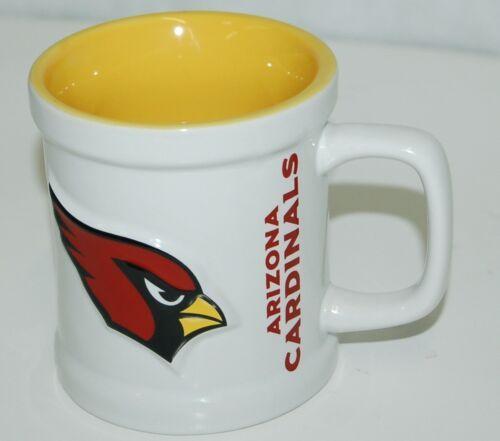 NFL Arizona Cardinals Mascot Mug Outside White Inside Yellow
