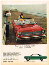 Vintage 1964 Magazine Ad Rambler American 440 Action & Excitement Unlimited - $5.93