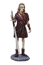 PTC Pacific Giftware Brave Heart Scottish Warrior Skeleton Statue Figurine - £10.65 GBP