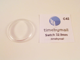 NEW! FOR SWATCH WATCH REPLACEMENT GLASS CRYSTAL FITS 32.9mm C42 - $10.10