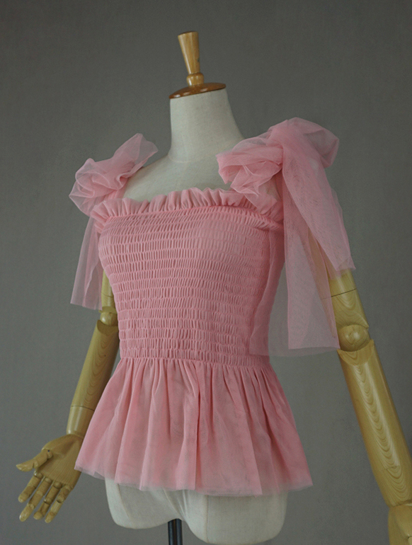 Tulle top pink 2