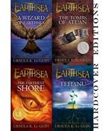 Ursula K LeGuin EARTHSEA CYCLE Fantasy Series HARDCOVER Set of Books 1-4 - $60.99