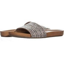 Steve Madden Dazzle Slide Sandals 016, Rhinestone, 6.5 US - $21.11