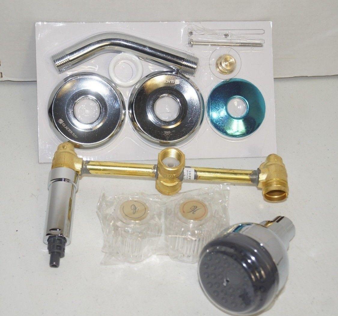 Glacier Bay 2 Handle Shower Faucet.Glacier Bay Aragon 2 Handle 1 Spray Shower And 23 Similar Items