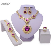 Fani Luxury Dubai Gold-colorful Jewelry Sets Wholesale Nigerian Wedding ... - $23.72