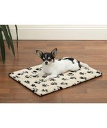 Dog Beds Ivory & Black Pawprint Crate Mats Warm Berber Therma Pet Choose... - $66.82