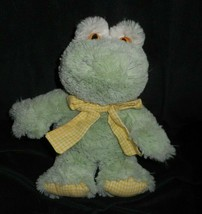 "12 "" Animale Avventura 2007 Bambino Rana Verde Giallo Bow Peluche Peluche - $21.87"