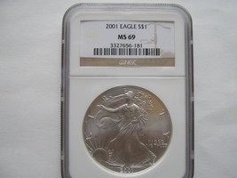 2001 Silver American Eagle (NGC MS-69) - $65.00
