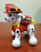 Fire Dog Dalmatian Toy Moves And Talks Battery Operated - $13.50