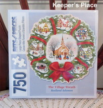 Bits And Pieces The Village Wreath Shaped Christmas Puzzle 750pc 25 X 24 New - $16.00