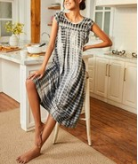 Simple by Suzanne Betro Women's Tie-Dye Sleeveless A-Line Dress (Black, 2X) - $33.86