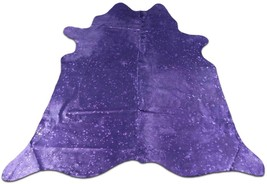 Purple Metallic Cowhide Size: 6.5' X 7' Purple Metallic Cowhide Rug M-434 - $246.51