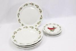Gibson Holiday Cardinal Dinner and Salad Plates Set of 16 - $88.19