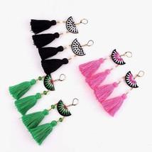 Fashion Bohemian Earrings Women Vintage Long Tassel Fringe Boho Dangle Earrings - $1.62