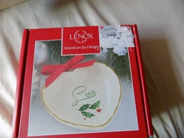 Lenox Heart Shaped Christmas Holiday LOVE Candy Dish NIB! - $8.99