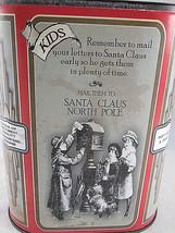 "NORTH POLE COCOA Tin Container 5.5"" square X 7"" tall Rustic Brown Color ... - $11.08"