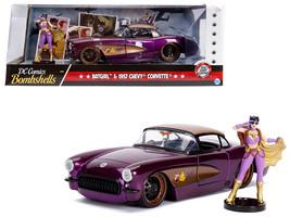 """1957 Chevrolet Corvette Purple with Batgirl Diecast Figure \""""DC Comics B... - $40.90"""