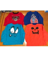Lot of 4 Boys Kids The Children's Place Red Blue Long Sleeve Shirt Size 5/6 - $19.79