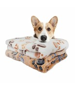 Soft Pet Blanket Cat Dog Warm Bed Paw Print Mat Puppy Coral Fleece Cushion Sofa - $1.99 - $4.99