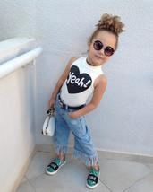 Fashion Baby Kids Girl Vest Top T Shirt+ Jeans Denim Pants Set Casual Po... - $18.00