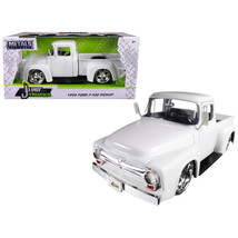 1956 Ford F-100 Pickup Truck White Just Trucks 1/24 Diecast Model Car by Jada 99 - $30.60