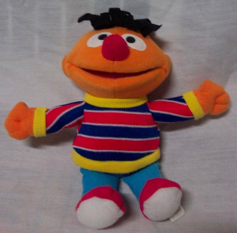 "Primary image for Sesame Street  ERNIE 8"" Plush STUFFED ANIMAL Toy Mattel 2003"